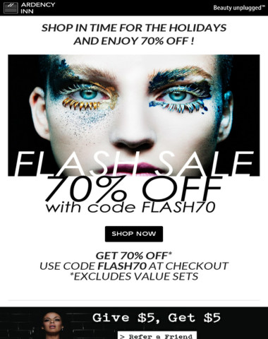 ? Holiday Flash Sale 70% Off ! ?