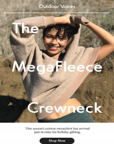 The new MegaFleece Crewneck