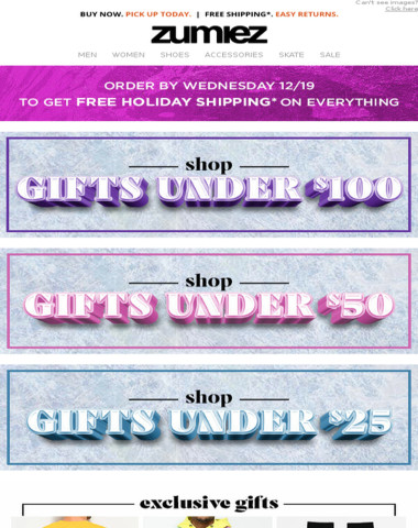 OUTLET Deals + Gifts Under $100