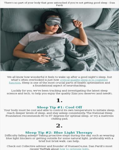 Day 9 of neurohacking: sleep tips + tech to love ?