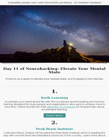 Day 11 of neurohacking: Elevate Your Mental State