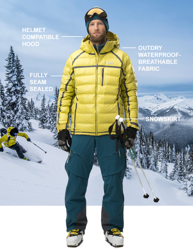 HELMET COMPATIBLE HOOD | OutDry waterproof-breathable fabric | FULLY SEAM SEALED | SNOWSKIRT