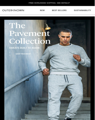 New! The Pavement Collection   Sweats Built to Roam