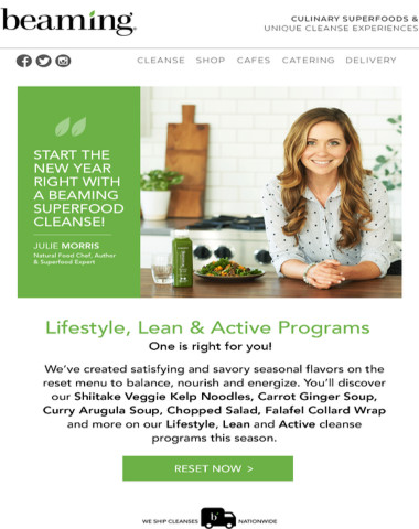 Time to eat clean! New Year's Cleanse Special