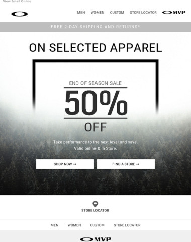 50% Off Apparel → Sales Are Still On