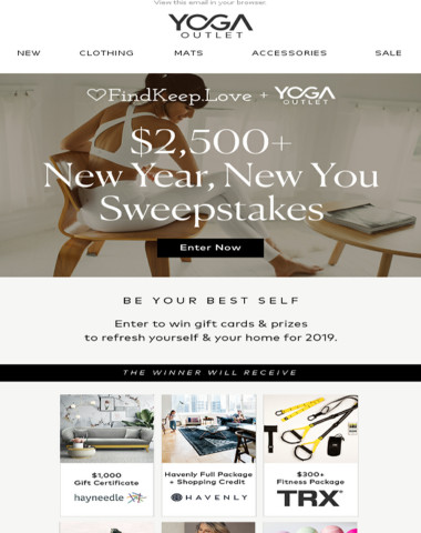 Win a $500 YogaOutlet.com Gift Card & $2,000+ in Other Prizes!