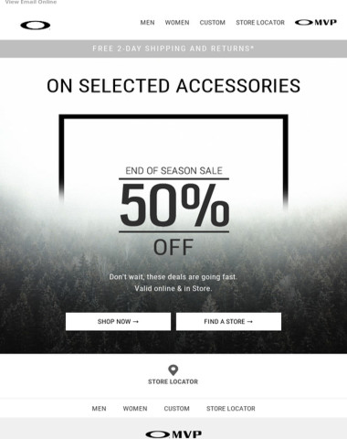 50% Off Accessories. Don't Wait.