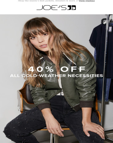 Brrr! 40% Off To Stay Cozy