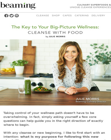 Cleanse with Food by Julie Morris
