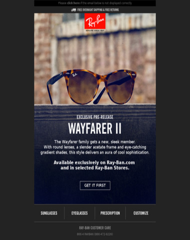 Pre-Release // Be the first to get the new Wayfarer II