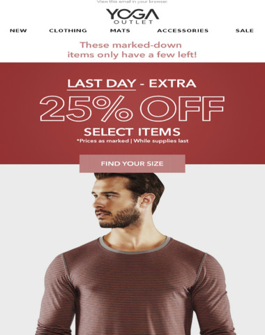 [ENDS TODAY] 25% off Select Styles