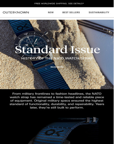 Standard Issue   History of the NATO Watch Strap