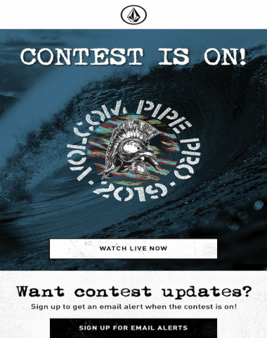 Volcom Pipe Pro contest is LIVE! 2/2