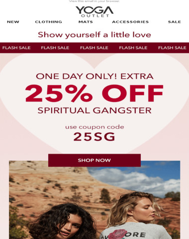 [ONE DAY ONLY] 25% off Spiritual Gangster