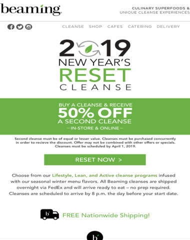 Reset Now! Final Days of BOGO 50% OFF Cleanses