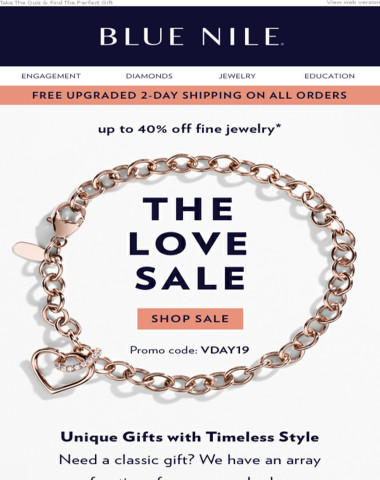 The Love Sale ❤️ Up To 40% Off Personalized Valentine's Gifts