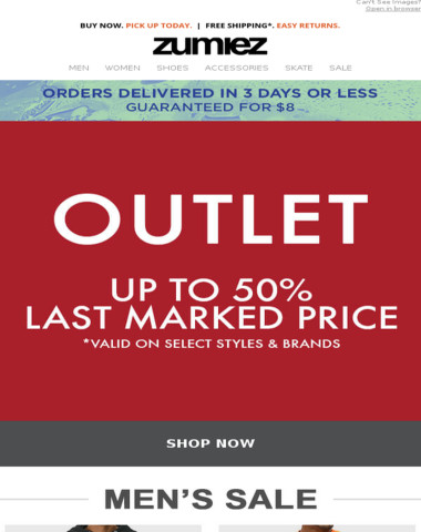 ?OUTLET - Save Big - Up to 50% Off!