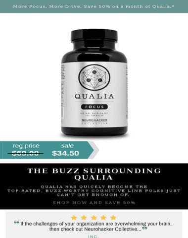 Nootropics | The Buzz Surrounding Qualia