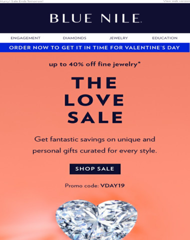 The Love Sale: Up To 40% Off Unique & Personal Gifts