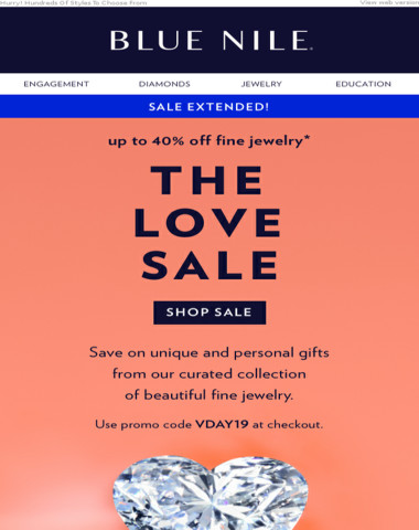 Sale EXTENDED: Up To 40% Off Diamond Jewelry & More