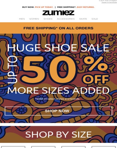 4 DAY SHOE SALE ➜ Up to 50% OFF + More Styles Added
