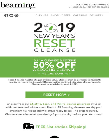 Last Day BOGO 50% OFF Cleanses - Reset Now!