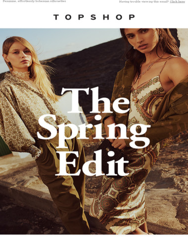 Welcome to the spring edit?