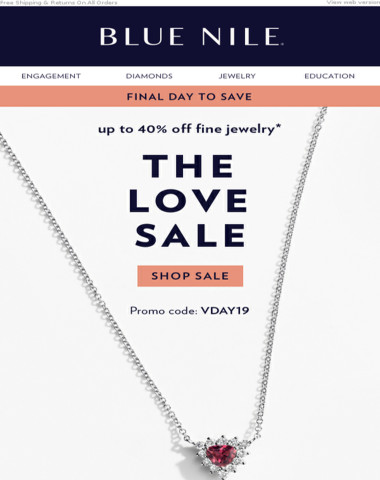 The Love Sale: Final Day To Save Up To 40% Off!