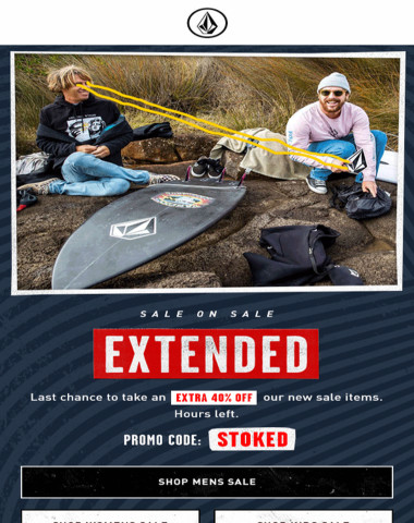 Our sale EXTENDED!