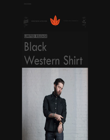 Limited Release! | Black Western Shirt