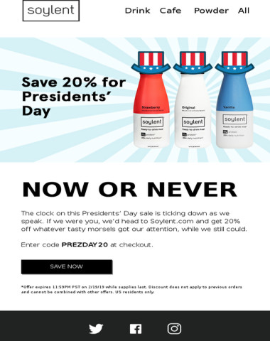 Get in on 20% off while you can