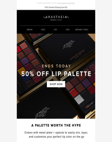 Ends Today: 50% Off Our Lip Palette