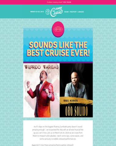 OMG! Have you seen the Zumba Cruise music line-up?