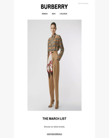 39655a3d2902 Burberry - The March List