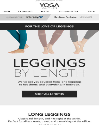 Leggings in All Lengths ? Which is Right for You?