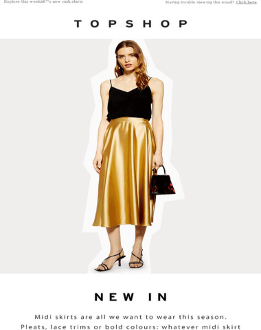 The midi skirt you've been looking for is here
