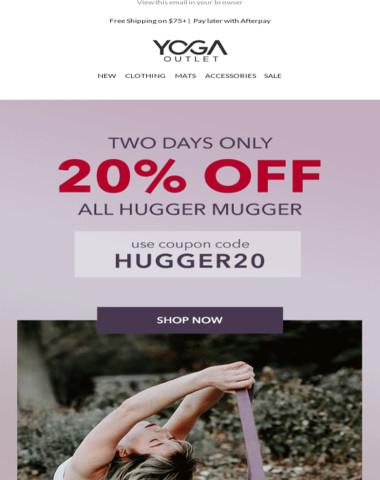20% Off All Hugger Mugger