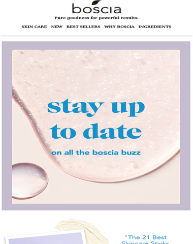 What's all the buzz about boscia?