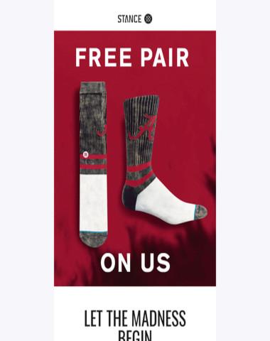 Complimentary Collegiate Socks