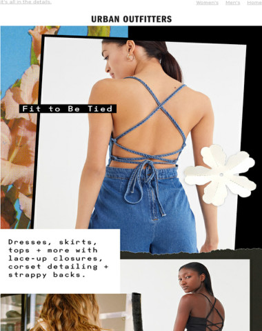 tied + true: lace-up tops, strappy dresses + more