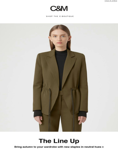 C&M Must Have: The Khaki Suit of the Season