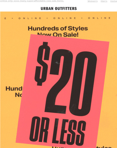$20 OR LESS ? $20 OR LESS ? $20 OR LESS