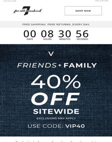Hey VIP! Don't Miss Out On 40% Off