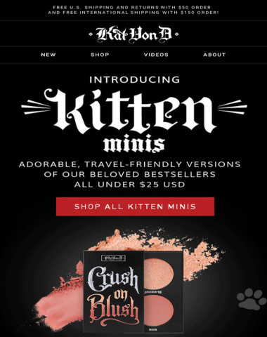NEW! Kitten Minis—Your favorite products, now in travel-friendly sizes