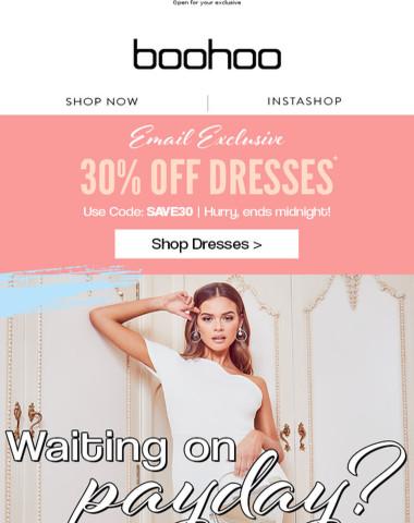 Want 30% Off Dresses? ?