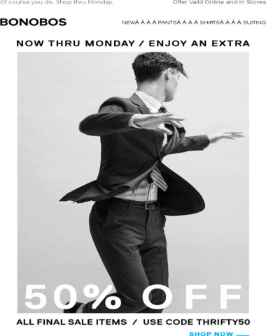 HEY, want an extra 50% off sale stuff?