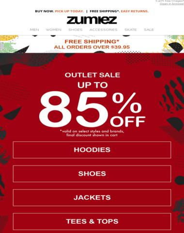 ⚠️ OUTLET - Huge Sale - Up to 85% OFF!