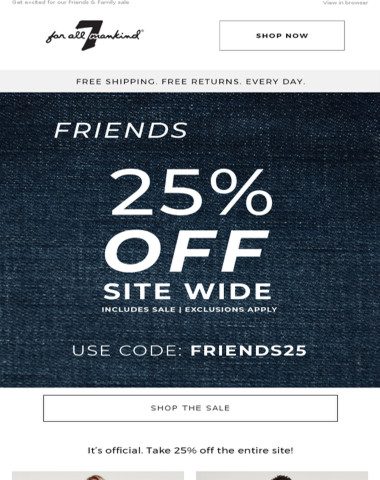 25% Off Your Entire Purchase!