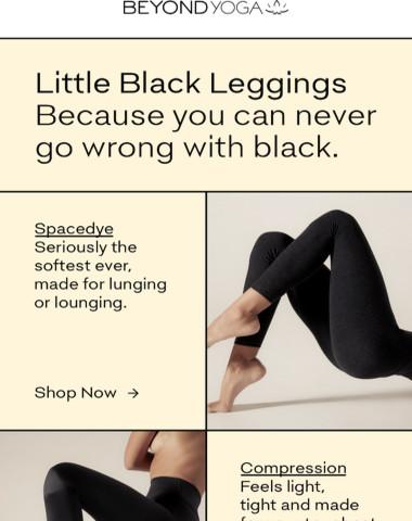 NEVER ENOUGH BLACK LEGGINGS