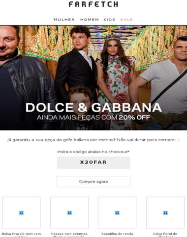 Olá, Dolce & Gabbana com 20% off por aqui
